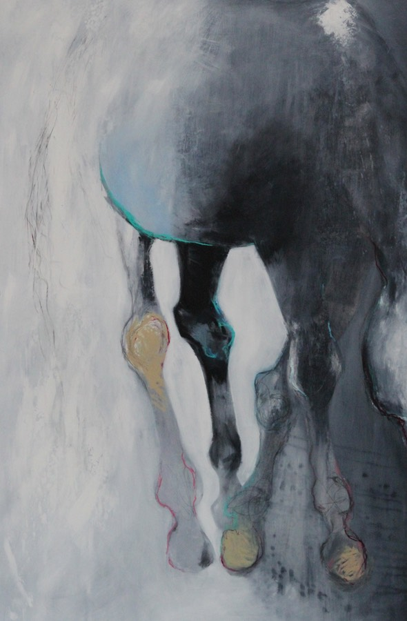 Horse II - 87 x 135cm oil, graphite & charcoal on paper SOLD